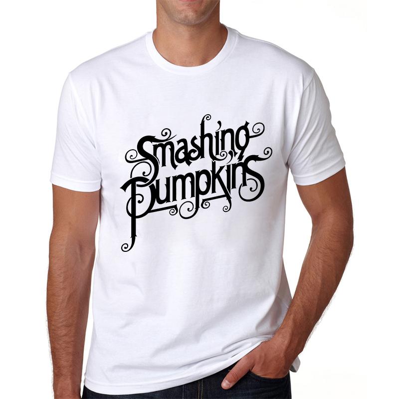 Grunge Rock Band Logo The Smashing Pumpkin T-shirts Fashion Summer Short Sleeve Crew Neck Tshirts Punk Style New T Shirts Tops(China (Mainland))