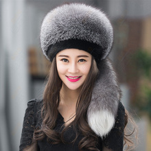 New women girl noble luxury fashion patchwork Mink cap female real fur hat entire specials fox fur hats winter mink fur