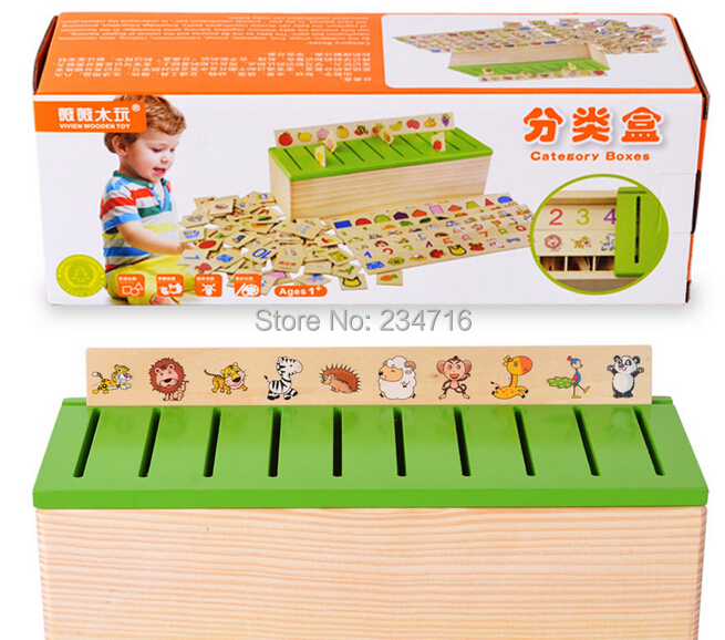 Early Childhood Educational Toys : Montessori classification box wood early childhood