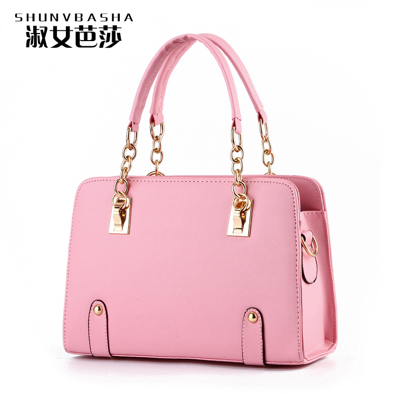 Female PU Leather Handbags Famous Designer Purses And Handbags 2016 Fashion Women Shoulder Bags Tote Luxury Bag Top-Handle Bags(China (Mainland))