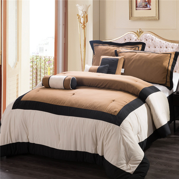 Modern Comforter Bedding Sets 7pc Polyester Comforter Set