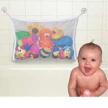 Baby Bathroom Mesh Bag Suction Cup Bag Mesh Bathroom Organizer Net Kids Bath Tub Toys baby Bathroom Shower Toy Organizer(China (Mainland))