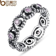 Style 925 Silver Wedding ceremony Rings With Crystal For Ladies Appropriate With Match Authentic Pandora Similar Ring Jewellery Reward