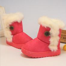 2015 New HOT Children Snow Boots Thicken Winter Children Shoes For Baby Kids Shoes Girls Boots