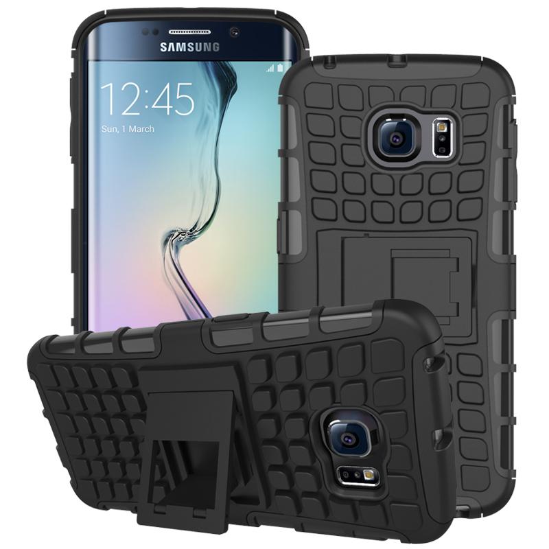 For Samsung Galaxy S6 Edge Case Hybrid Dual Heavy Duty Armor Cases For Samsung Galaxy S6 Edge G9250 Cover Coque(China (Mainland))