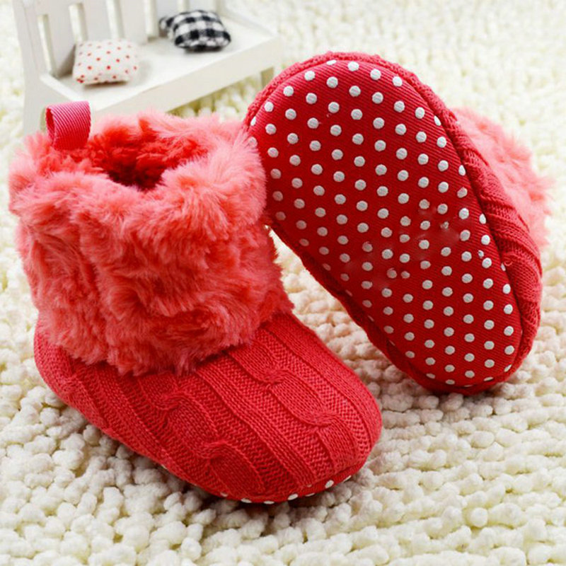 Infant Baby Crochet/Knit Fleece Snow Boots Toddler Wool Crib Shoes Booties(China (Mainland))