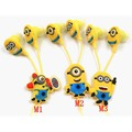 NEW Top cartoon in ear wired 3 5mm earphone headphone Despicable Me Minions model headset for
