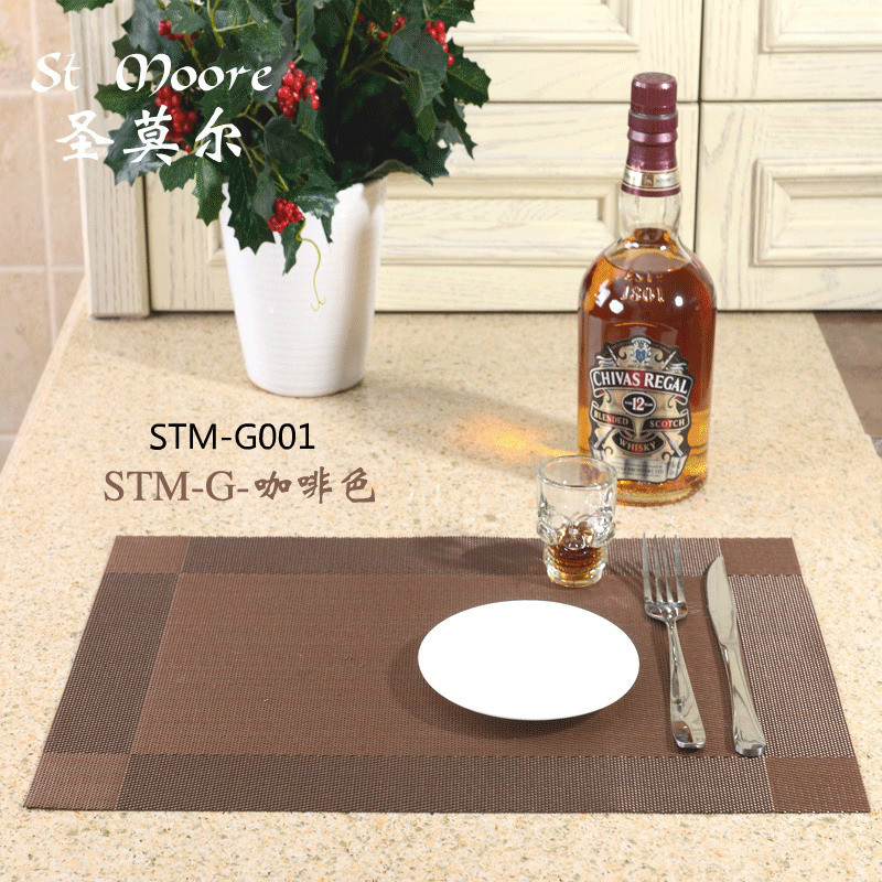 Placemat 2015 fashion pvc dining table mat disc pads bowl pad coasters waterproof table cloth pad slip-resistant pad(China (Mainland))