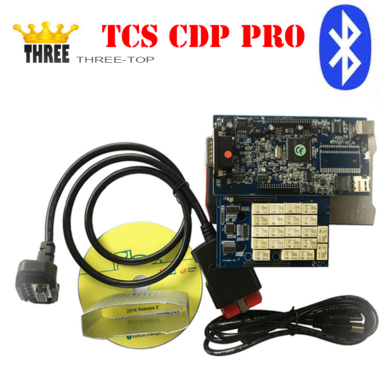 Latest product with bluetooth TCS CDP PRO Diagnostic scanner Tool 2015 R3 TCS CDP PRO With Bluetooth for CAR/TRUCK(China (Mainland))
