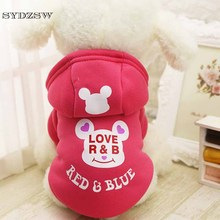 Buy Fleece Dog Clothes Pet Clothing Small Dog Coat Cartoon Bear Puppy Jacket Apparel Chihuahua Hoody Winter Keeping Warm 109 for $2.37 in AliExpress store
