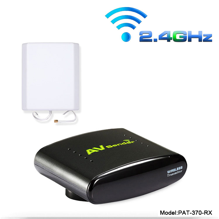PAT-370 2.4GHz 500m Wireless AV A/V Audio Video Sender Single Receiver Only With EU US UK AU Plug for PAT370(China (Mainland))