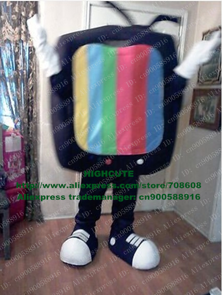 TV TELEVISION MASCOT COSTUME Adult Cartoon Character Mascotte Mascota Outfit Suit No.1662 Free Ship(China (Mainland))