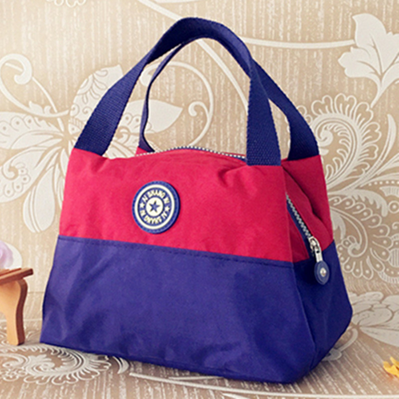 Hot Fashion Waterproof bag Fabric warm Canvas lunch bag for women Waterproof Lunch box bags Women's lunch bolsa termica(China (Mainland))