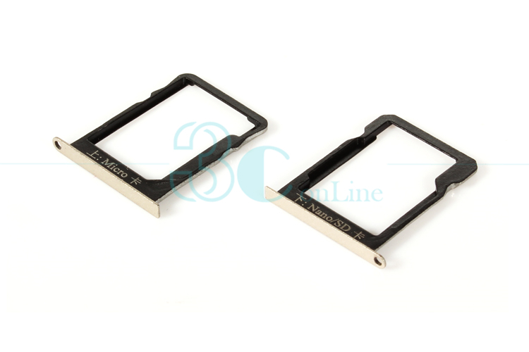 for Huawei Ascend Mate 7 Micro SIM Card + Nano SIM Card / Micro SD card Tray Holder Slot Set Replacement Flex Cable Repair Parts(China (Mainland))