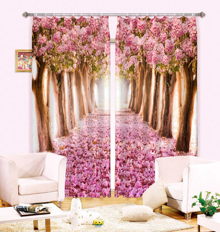 Comblackout Curtains For Kids Rooms : Print 3D Blackout Curtains For Kids Girls Bedding room Living room ...