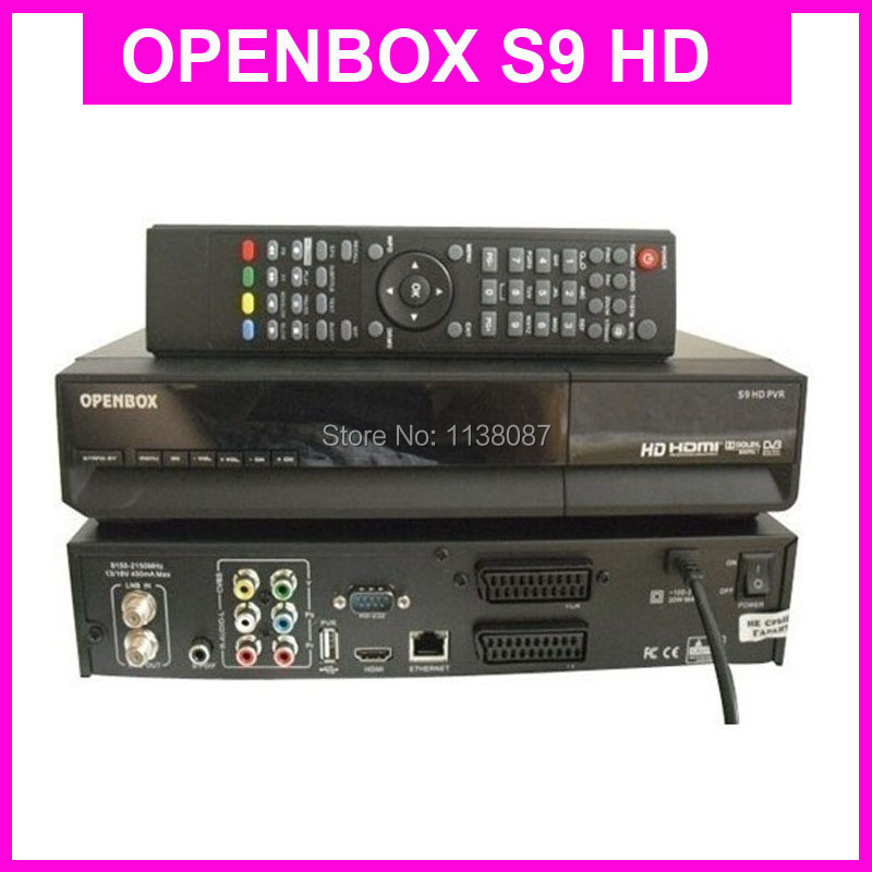 DHL New Version Original OPENBOX S9 HD PVR Digital Satellite Receiver with HD 1080P Tuner 2*Scart CI cccamd and newcamd(China (Mainland))