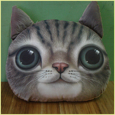 New Cartoon Chair Pillow Personality Car Cushion Cover Creative Handsome Cat shape Nap pillow Cover Cute seat cushion(China (Mainland))