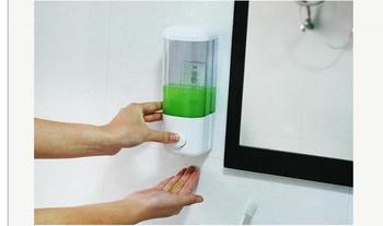 Home Washroom Suck Wall Mounted Soap Sanitizer Bathroom Shower Shampoo Dispenser