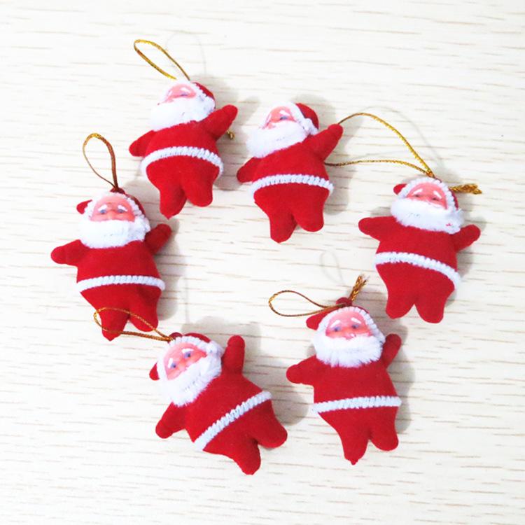 1Pcs Christmas Party Decoration mini Santa Claus Hang Christmas Tree indoor&outdoor Decorations 5cm*3.5cm#A002(China (Mainland))