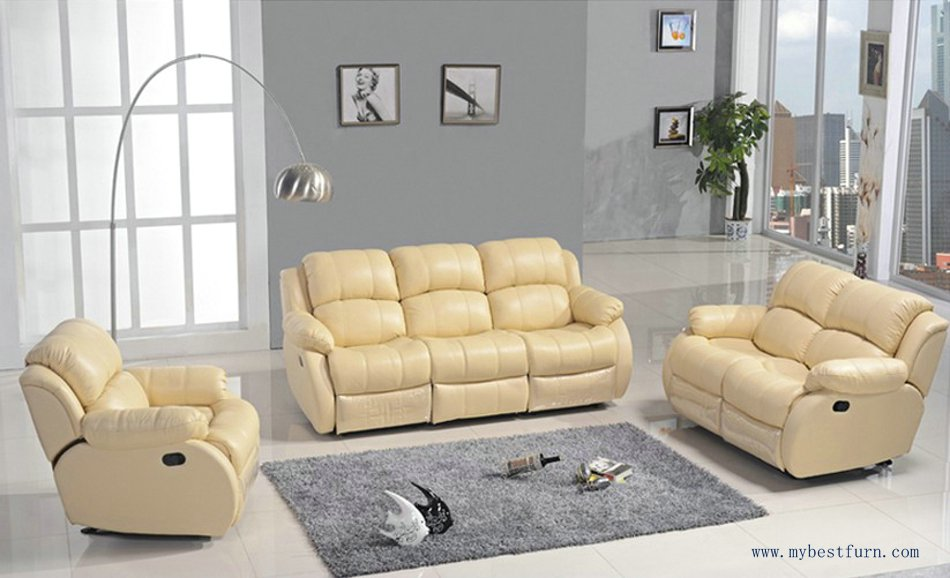 Recliner Sofa Set Modern Design 1+2+3 Sectional Sofas Reclining Chair With Shake Retation Function Genuine Leather Sofa Set<br><br>Aliexpress
