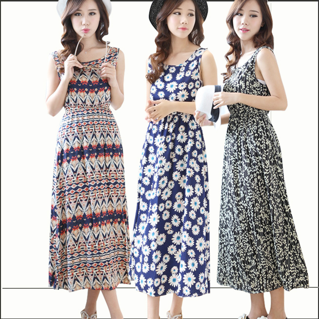 2015 S-XXL 22 Colors Hot Sell Summer Style Floral Printed Chiffon Dress Summer Dress Women Chiffon Dress TSP2243(China (Mainland))
