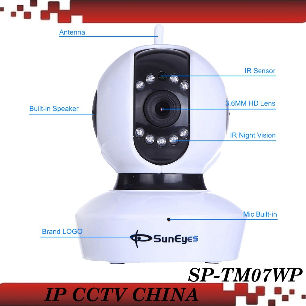 SunEyes SP-TM07WP  IP Camera 720P HD Wireless Pan/Tilt with ONVIF and RTSP Two Way Audio Micro SD Slot <br><br>Aliexpress