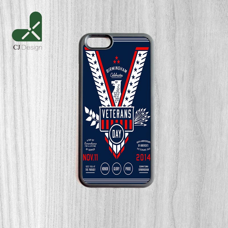 Hot Low Veterans Day Poster Durable Custom Made Smartphone Protective Cover For iPhone 6 6s And 4 4s 5 5s 5c 6 Plus Cases(China (Mainland))