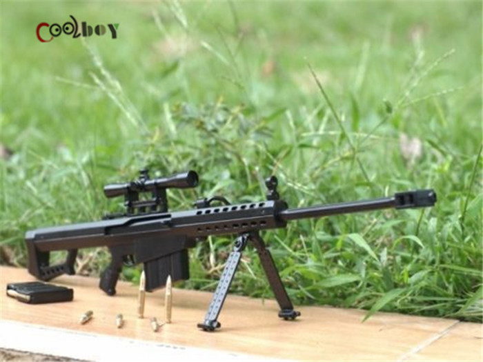 1:6 Scale Metal Gun Model Barrett M82A1 Sniper Rifle Dismountable Brinquedos Toys Building Kits Cosplay Collection