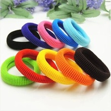 1pcs/lot A small gift selling hair color Korean hair towel ring seamless rubber band(China (Mainland))