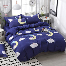 SJ 3/4pcs/Set Cartoon Pink Kids Bedding Set Student Dormitory Bed Linen With Pillowcases Cotton Duvet Cover Set Home Textile(China)