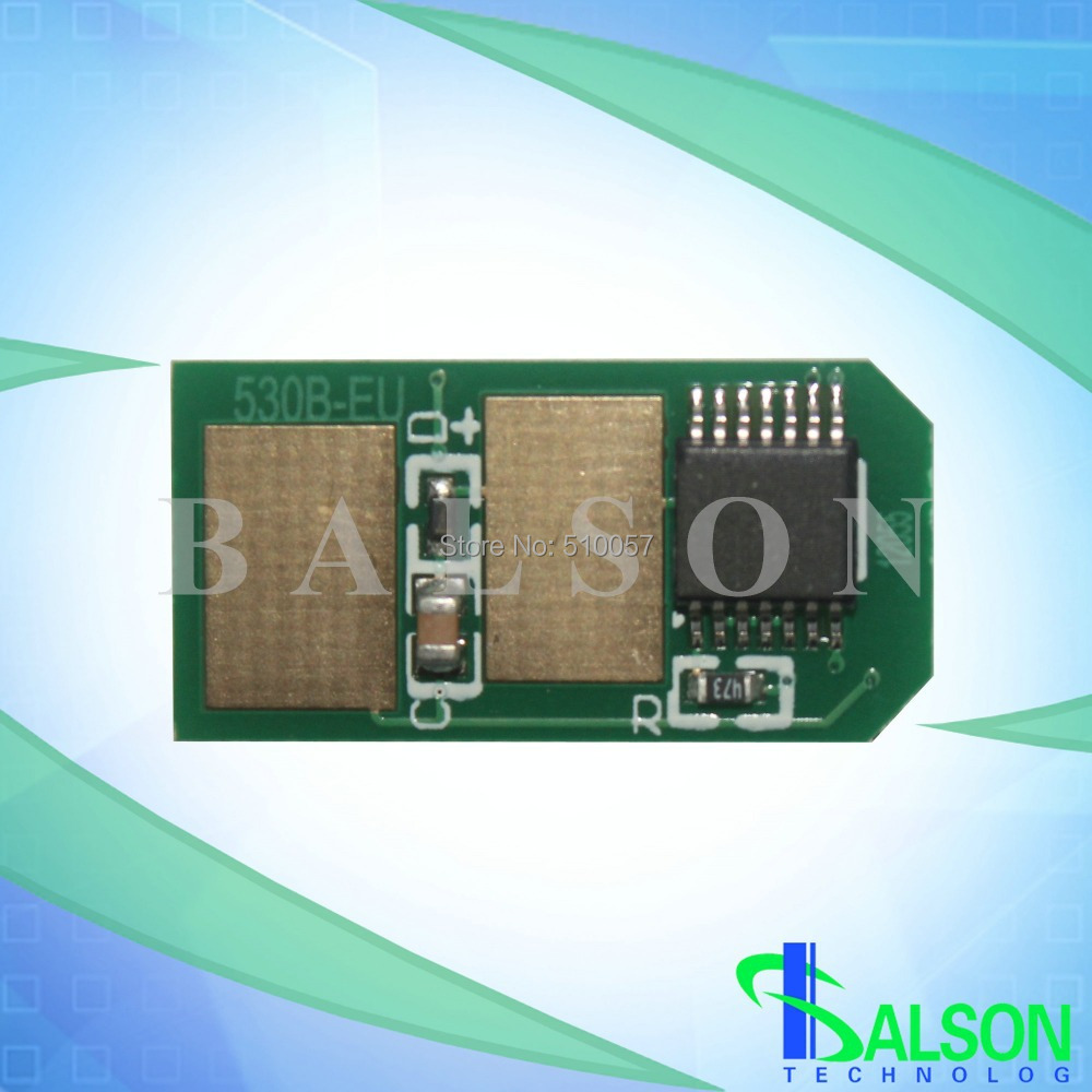 Compatible color laser printer chip for OKI MC561 reset toner chip for OKI C530(China (Mainland))