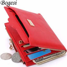 with Coin Bag zipper new 2016 women wallets brand purses female thin wallet passport holder ID Card Case(China (Mainland))