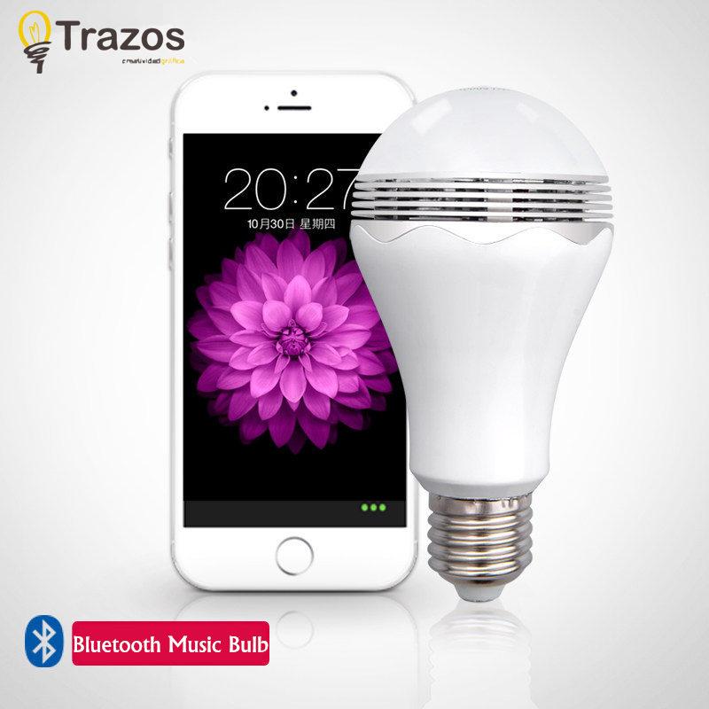 Гаджет  2015 New Bluetooth Speaker bulb with mobile phone APP ios/android bulb, LED smart bulb, speaker bluetooth music bulb None Свет и освещение