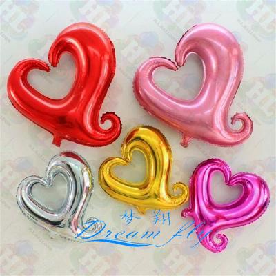 NEW arrived Free shipping Heart foil balloon valentine's day gift heart shape balloon(China (Mainland))