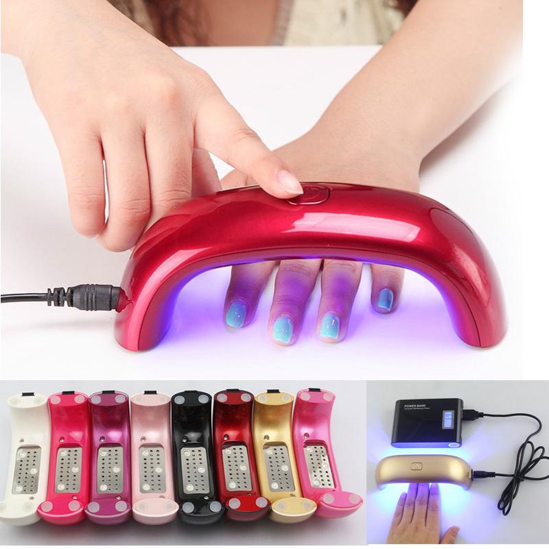 LKE 9W LED UV Lamp 10 colors choose LED lamp nail Manicure for nail polish EU US plug led light to nail dryer(China (Mainland))