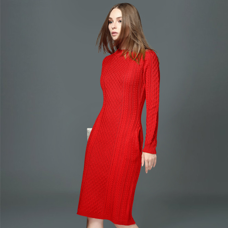 european high quality 2015 autumn winters knitted dress