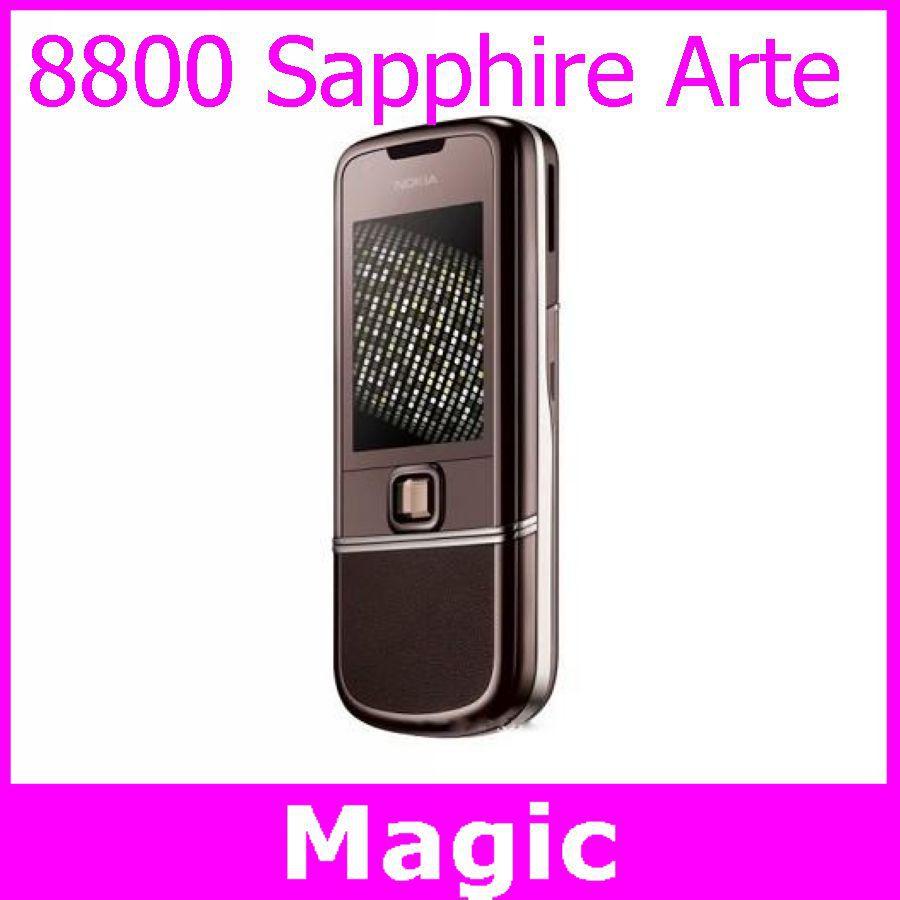 original unlocked nokia 8800 sapphire arte cell phones 3.15MP camera with Russian language / keyboard free shipping(China (Mainland))