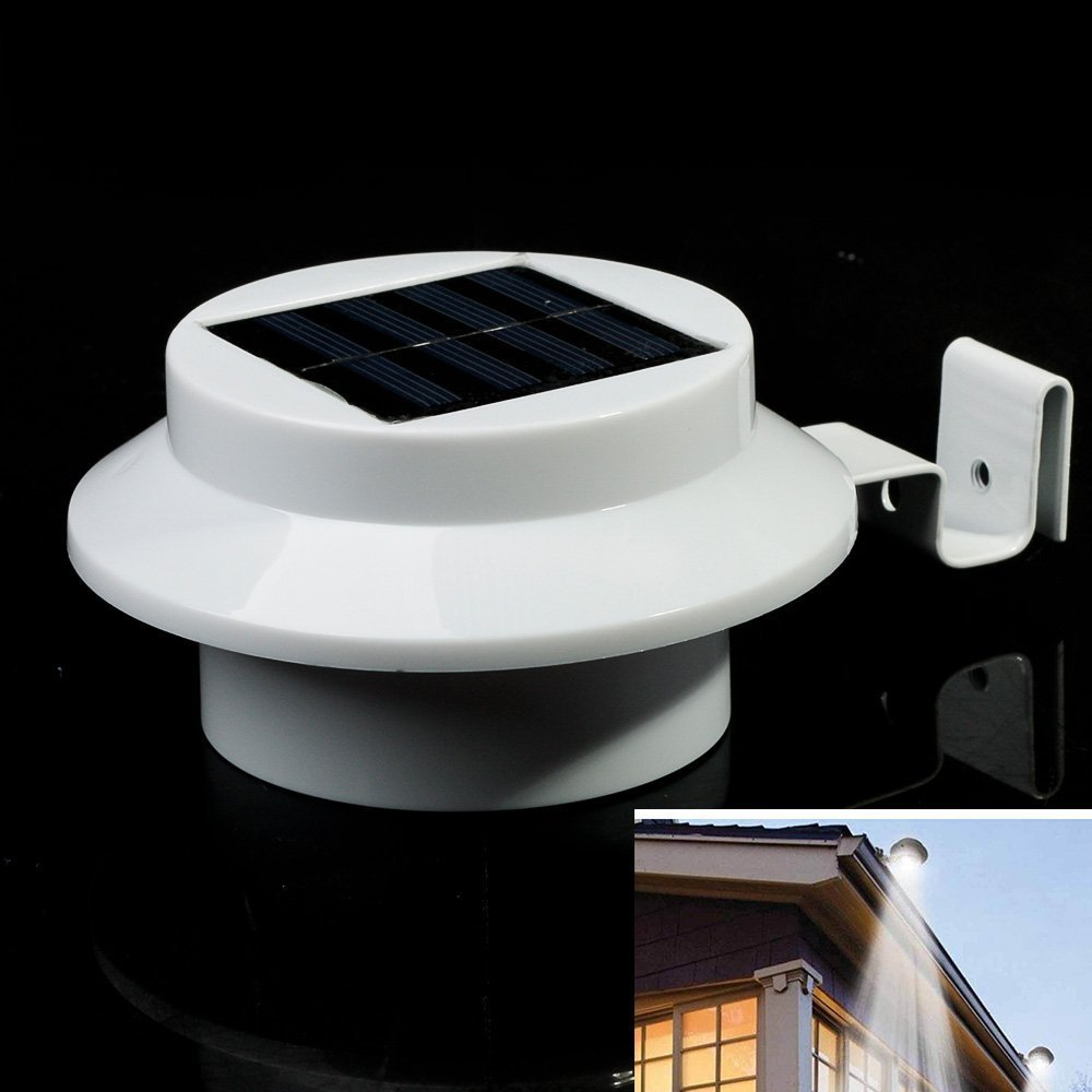 high quality outdoor led solar powered fence light garden solar light