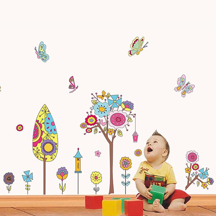 Bohemian wall decals modern home decor decorative vinyl ikea wallpaper 2015 new kids wall - Modern kids wall decor ...