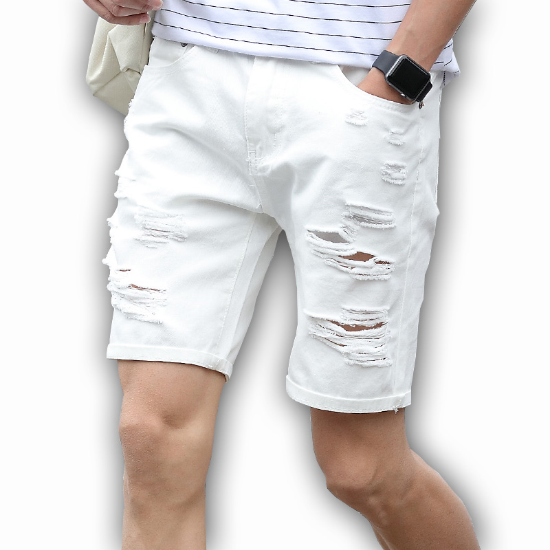 Online Buy Wholesale jean mens white shorts from China jean mens ...