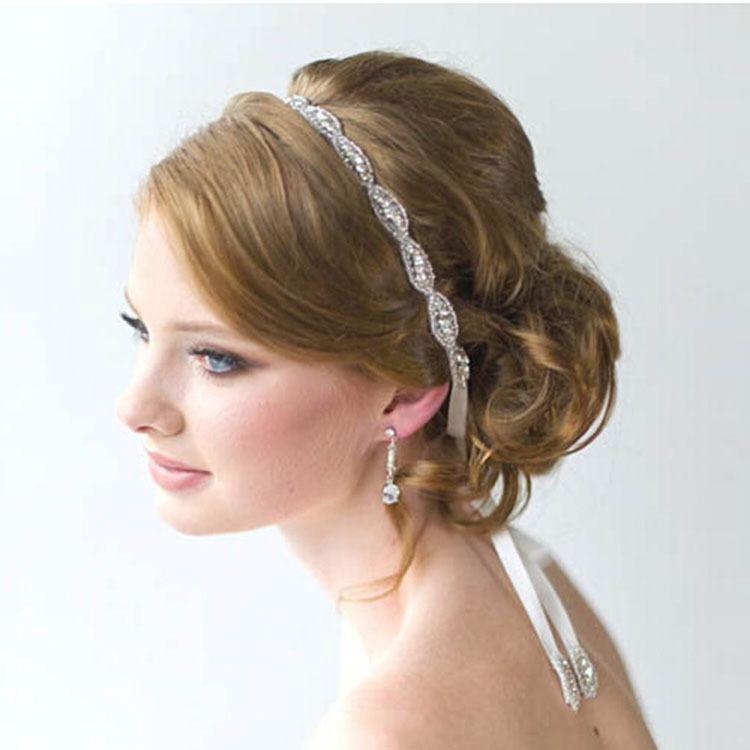Free shipping Handmade retro fashion luxury crystal diamond bride hair band headband hair headdress(China (Mainland))