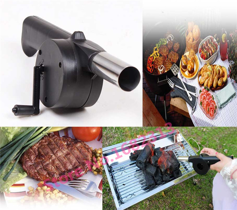 New BBQ Fan Hand Fan Cranked Outdoor Picnic Camping BBQ Barbecue Tool Fan/Blower Barbecue Fire(China (Mainland))