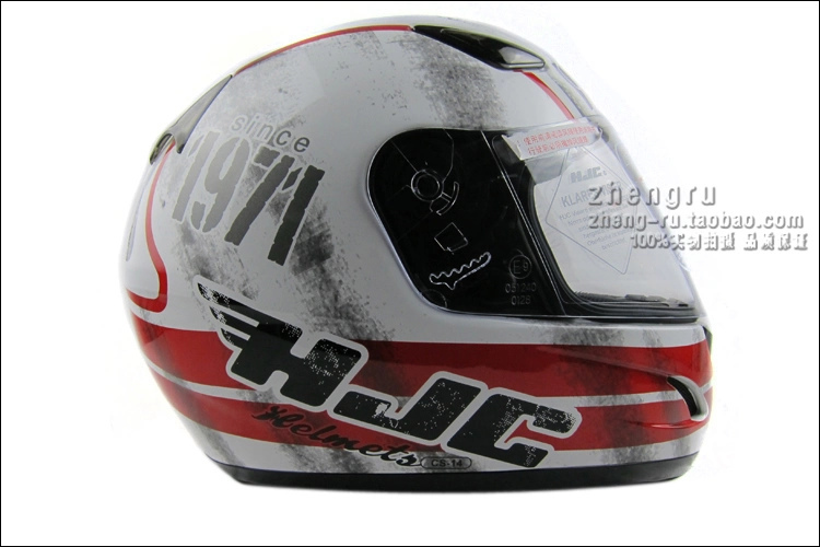 Free Shipping Korea HJC CL-14 helmet motorcycle helmet full helmet professional retro run helmet Shock / red 1971(China (Mainland))