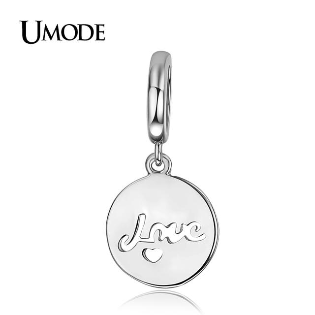 Umode высокое качество письма любовь мини-сердце монета в форме белого золота DIY ...