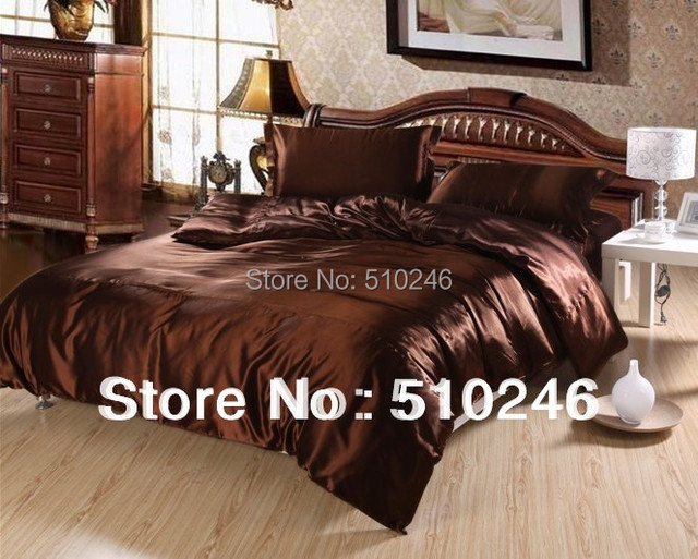 hot sale high quality 4pcs imitated silk satin bedding set bed sheet set quilt cover duvet cover set