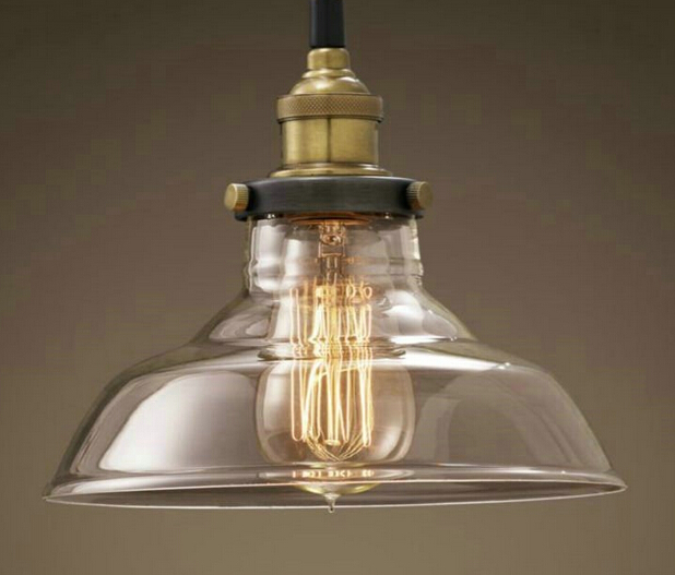 Modern Contracted American Industrial Creative Fashion Retro Chandelier With Glass Bedside Light Aisle Chandelier Free Shipping