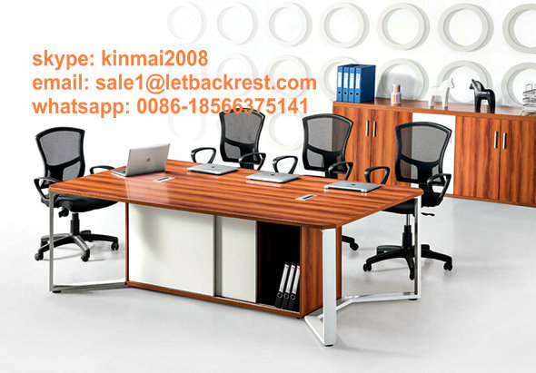 conference table modern design, meeting table desk, metal wood meeting table with Lockers(China (Mainland))