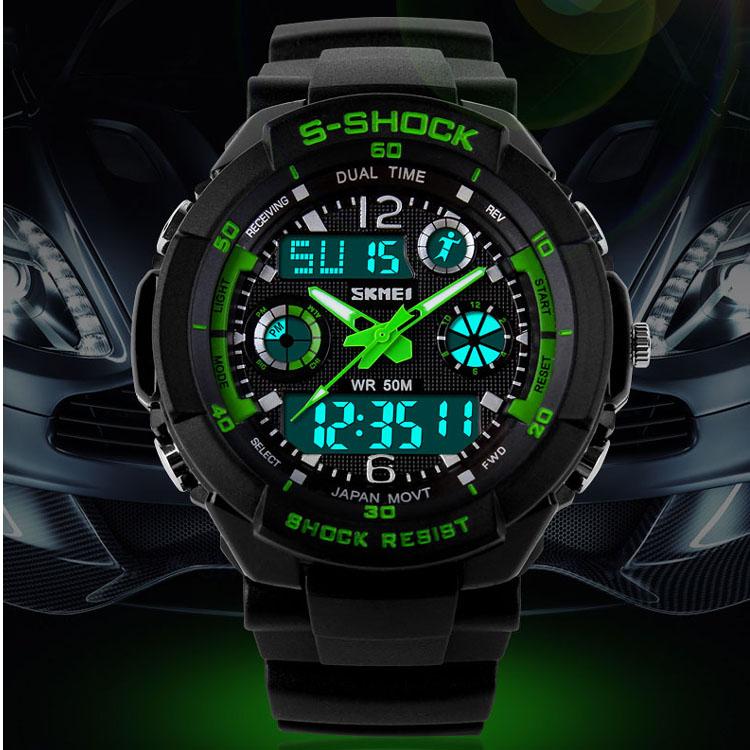 Skmei S Shock Men Sports Watches Men Running Military Watches Digital Analog Dual Time Wristwatches Relogio Masculino Relojes(China (Mainland))