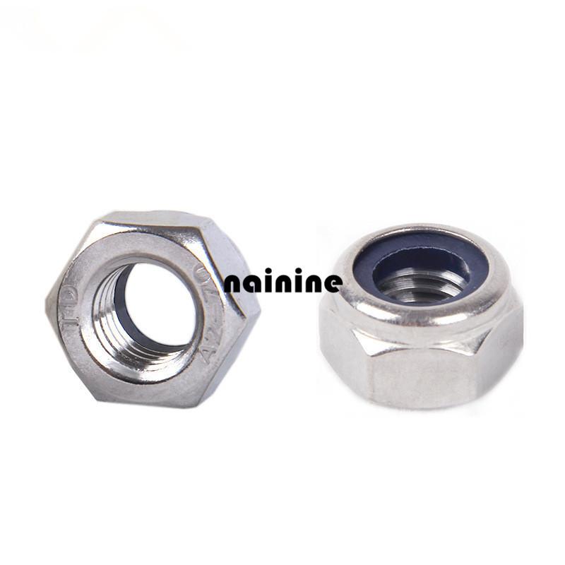 6pcs M8 DIN985 galvanized self-locking nut / nylon lock / locknut slip nut hw08026(China (Mainland))