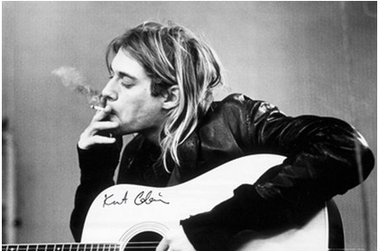 Custom GB Eye kurt Cobain Smoking Poster Decor Best Nice Wall Sticker 51x77cm FREE SHIPPING DGT-47804(China (Mainland))
